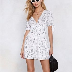 Nasty Gal Polka Dot Mini Dress